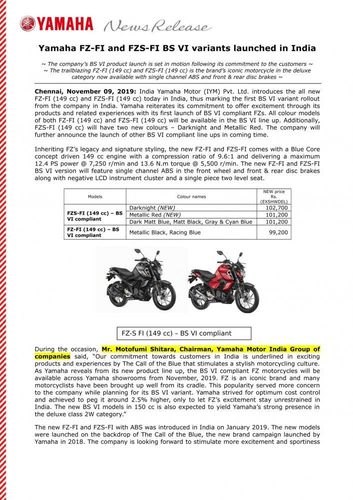 News Release - Yamaha - BSVI  - FZ FZS - Nov 9 2019-1.jpg