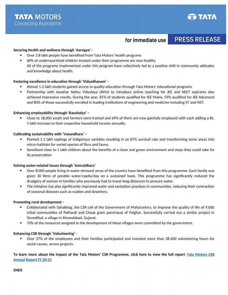 Press Release - Tata Motors Annual CSR Report FY21-2.jpg