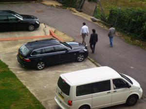 A Merc, a BMW, a Volkswagen and Land Cruiser Prado