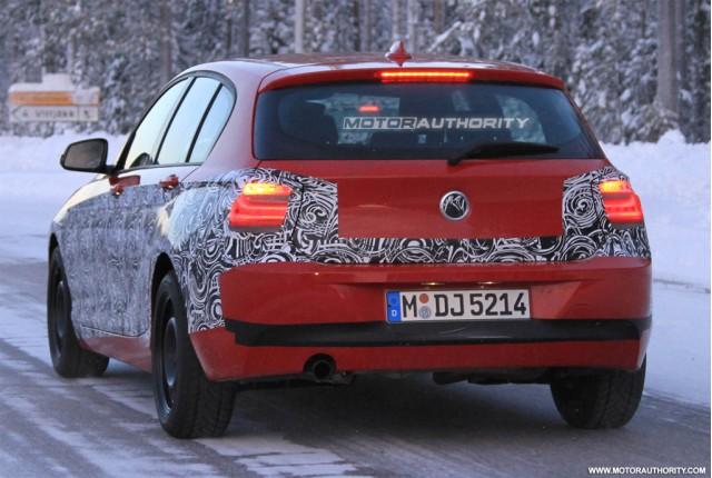2012 BMW 1 Series spied testing.