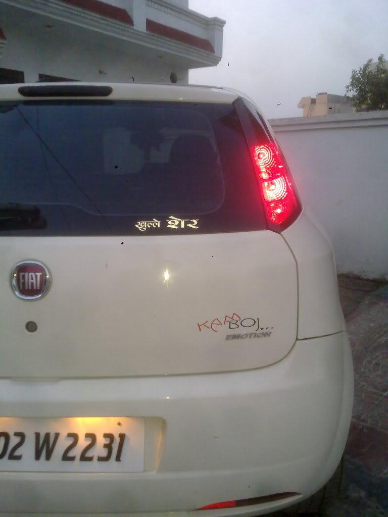 My White Fiat Punto