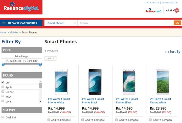 Reliance Jio's LYF 4G Smartphones To Launch in Feb
