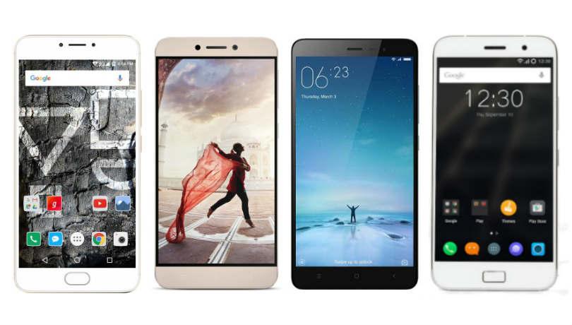 YU Yunicorn vs Xiaomi Redmi Note 3 vs LeEco Le 1s vs Lenovo ZUK Z1